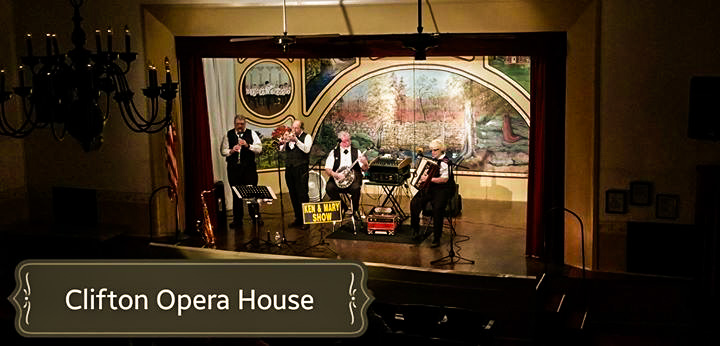 In concert at the Clifton Opera House 8/1/15